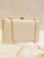 Women Evening Bag PU All Seasons Event/Party Party & Evening Club Baguette Magnetic White Champagne