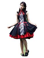 Инвентарь Японский стиль Винтажная коллекция Косплей Платья Лолиты Винтаж Без рукавов Короткие / Мини Для
