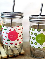 Creative Covered With Cold Drinks Glass Straw Cups Mason Cup