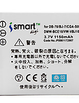 Ismartdigi S008 3.7V 1150mAh Camera Battery for Panasonic FX33 FX30 FX55 FX36 FX520