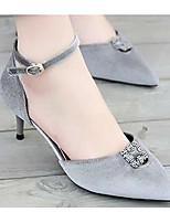 Для женщин Сандалии Удобная обувь Нубук Весна Повседневные Удобная обувь Черный Серый На плоской подошве