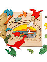 Jigsaw Puzzles 3D Puzzles Building Blocks DIY Toys Dinosaur Wooden