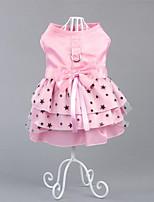Dog Dress Dog Clothes Party Casual/Daily Princess Green Blushing Pink
