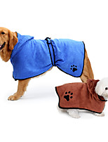 Quick Dry Pet Bath Robe Microfiber Pajamas  for Dogs and Cats