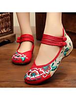 Da donna Sneakers Tessuto Primavera Nero Rosso Verde Piatto