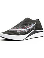 Homme Chaussures d'Athlétisme Confort Semelles Légères Polyuréthane Eté Automne Extérieure Sport Athlétisme Talon Plat Noir Gris Plat