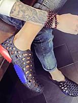 Men's Sandals Comfort PP (Polypropylene) Summer Casual Comfort Flat Heel Blue Gray Black Flat