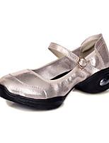 ללא התאמה אישית נשים מודרני עור נעלי ספורט חיצוני שטוח זהב שחור כסף 5 - 7 ס