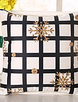 1 Pcs Top Grade Grid Snowflake Pillow Cover Emulation Silk Pillow Case
