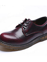 Men's Sneakers Comfort Real Leather Pigskin Spring Casual Black Brown Ruby Flat