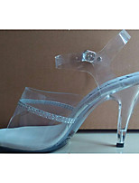 Women's Heels Summer Fall Club Shoes PVC Glitter Party & Evening Dress Casual Stiletto Heel Crystal Heel Rhinestone Crystal