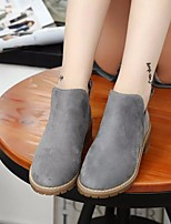 Women's Boots Comfort PU Spring Casual Brown Gray Black Flat