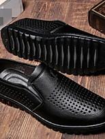 Men's Sneakers Comfort PU Spring Casual Black Brown Flat
