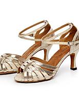 Keine Maßfertigung möglich Damen Latin Glitzer Sandalen Absätze Innen Glitter Stöckelabsatz Gold Weiß Schwarz 5 - 6,8 cm