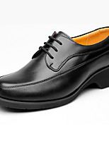 Men's Oxfords Formal Shoes Leather Spring Fall Outdoor Office & Career Formal Shoes Black 2in-2 3/4in