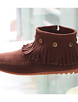 Women's Boots Comfort PU Winter Casual Light Yellow Coffee Black 1in-1 3/4in