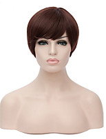 Capless  Straight Synthetic Hair Woman Reddish Brown Short Heat Resistant Wig