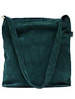 Women Shoulder Bag Canvas All Seasons Casual Shopper Zipper Dark Brown Dark Green Red