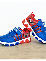 Girls' Sneakers Comfort Cowhide Nappa Leather Spring Fall Outdoor Casual Walking Magic Tape Low Heel Blue Red Orange Flat