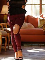 Women's Polyester Spandex Medium Solid Color Legging,Solid