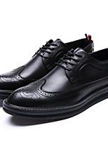 Men's Sneakers PU Spring Black Yellow Flat