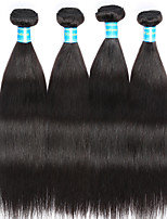Vinsteen Indian Straight Human Hair 4 Pieces 400g Human Hair Weft Natural Color Virgin Hair Extensions 12-20Inch Weaving Hair Extensions