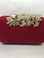 Women Evening Bag PU All Seasons Formal Event/Party Baguette Push Lock Red Black White Gold