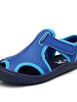 Fille Sandales Premières Chaussures Polyuréthane Printemps Automne Décontracté Premières Chaussures Scotch Magique Talon PlatRouge Bleu