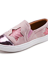 Girls' Flats First Walkers PU Spring Fall Casual Walking First Walkers Magic Tape Low Heel Blushing Pink Silver Flat