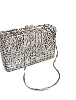 Women Stylish And Simple Silver Clutch Bag
