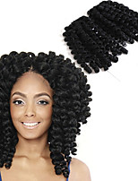 8inch Jumpy Wand Curl Twist Crochet Braid Jamaican Bounce African Synthetic Braiding Hair  High Temperature Fiber Short Ombre Wand Curls Twist Braid