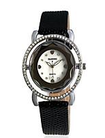 Women's Fashion Watch Quartz PU Band Charm Black