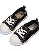 Девочки Кеды Обувь для малышей Резина Кожа Весна Осень Для прогулок Повседневный Для прогулок На липучках На низком каблукеБелый Черный