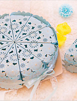 10 / Group Carved Hollow Out Hot Stamping Triangle Cake Candy Box European Ideas  Wedding  Candy Box