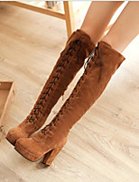 Women's Boots Comfort PU Spring Casual Red Brown Yellow Flat