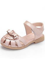 Girls' Sandals First Walkers PU Spring Fall Casual First Walkers Magic Tape Flat Heel Blushing Pink Blue White Flat