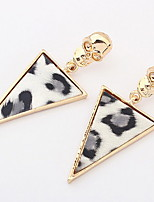 Women's Drop Earrings Gold Jewelry Triangle Chrome Skull Euramerican Exaggerate Personality Business And Party Statement Jewelry