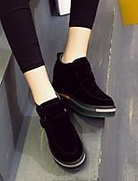 Women's Boots Comfort PU Spring Casual Green Black Flat