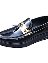 Men's Sneakers Comfort Nappa Leather Patent Leather Cowhide Spring Casual Black Flat