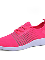 Women's Sneakers Comfort Tulle Summer Fall Outdoor Athletic Casual Running Flat Heel Blushing Pink Gray Black Flat