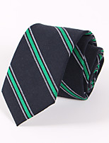 Men's Casual Fashion Personality Stripe Cotton Tie