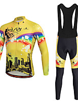 Miloto Maillot et Cuissard Long à Bretelles de Cyclisme VéloPantalon/Surpantalon Survêtement Maillot Collants Collant à