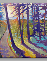 IARTS®Hand Painted The Shadow of Purple Trees Oil Painting with Stretched Frame For Home Decoration