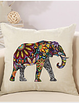 1 Pcs Bohemia Vintage Elephant Pattern Pillow Cover Creative Square Cotton/Linen Pillowcase Home Decor