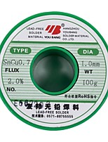 Aia Lead-Free Solder Wire Sncu0.7 Tin Wire 1.0 Mm - 100 - G/Volume