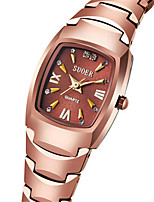 Women's Fashion Watch Japanese Quartz Digital Water Resistant / Water Proof Alloy Band Black Silver Gold Rose Gold