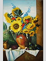 Oil Paintings Still Life Style Canvas Material With Wooden Stretcher Ready To Hang Size60*90CM .