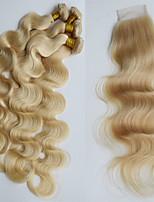 One Pack Solution Cheveux Brésiliens Ondulation naturelle 6 Mois 5 Pièces tissages de cheveux