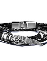 Men's Casual Leather Bracelets Fashion Hip-Hop Rock Circle Round Jewelry For Birthday Gift Sports Christmas Unique Cool Gifts