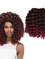 8inch 2X jamaican bounce twist hair tresse crochet braids extensions wand curl Braiding hair 20Strands/pack Jumpy Wand Curl Twist  Ombre Twist